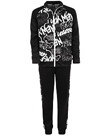 Ideology Big Boys Graffiti-Print Jacket & Jogger Pants, Created for Macy's