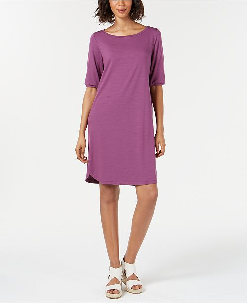 Eileen Fisher Short-Sleeve Dress, Regular & Petite