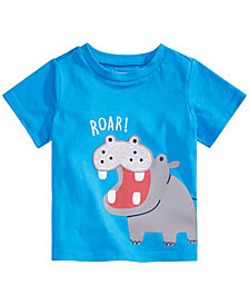 First Impressions Baby Boys Hippo Graphic T-Shirt, Created for Macy's