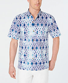 Tommy Bahama Men's Diamond Tide Regular-Fit Geo-Print Camp Shirt