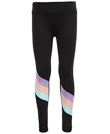 Ideology Little Girls Colorblocked Leggings, Created for Macy's