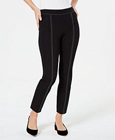 Alfani Contrast-Stitch Skinny Pants, Created for Macy's