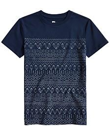 Epic Threads Big Boys Geo-Print T-Shirt, Created for Macy's