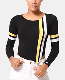 ARTISTIX Striped Bodysuit