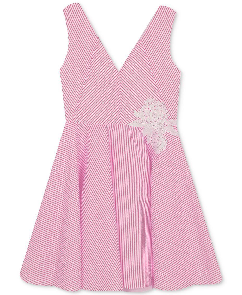 Rare Editions Big Girls Plus-Size Fit & Flare Seersucker Dress ...