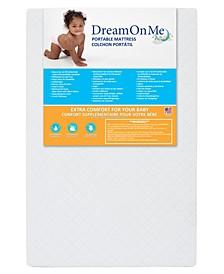 3'' Extra Firm Portable Crib Mattress, White