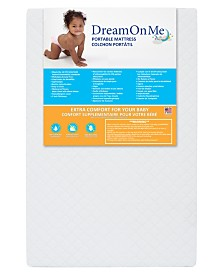 Dream On Me, 3'' Extra Firm Portable Crib Mattress, White