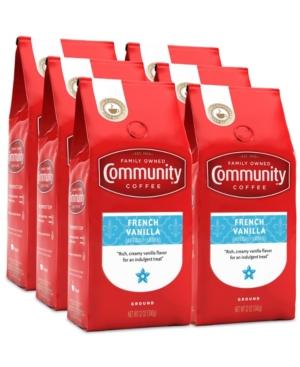French Vanilla Medium Roast Premium Ground Coffee, 12 Oz - 6 Pack