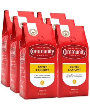 Coffee and Chicory Medium-Dark Roast, 12 Oz - 6 Pack