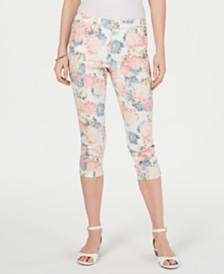 Charter Club Petite Lush Petals Capri Pants, Created for Macy's