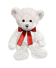 First and Main - White Spencer Bear Plush, 10.5 Inches