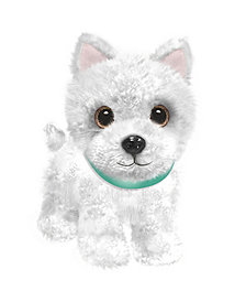 "First and Main - Wuffles Westie Plush Dog, 7"" Sitting"