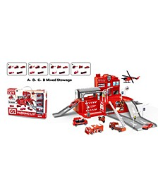 Lucky Toys - Fire Rescue Parking Lot Play Set, 25 Pieces
