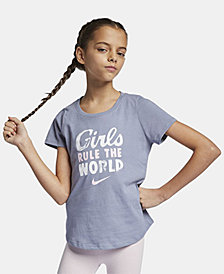 Nike Big Girls Rule The World-Print Cotton T-Shirt
