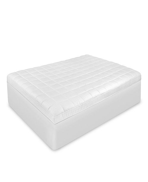 SensorPEDIC  Luxury Euro-Top Antimicrobial King Mattress Pad with Repel-A-Tex
