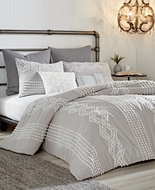 Cut Geo 3-Pc. Full/Queen Comforter Set