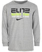 26b57463 Nike Big Boys Elite-Print Cotton T-Shirt