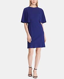 Lauren Ralph Lauren Crepe Flutter-Sleeve Dress