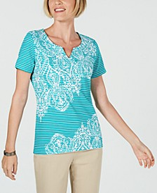 Striped Studded Top, Created for Macy's