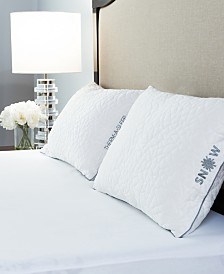 Protect-A-Bed Snow Cooling Pillow With Shredded Memory Foam Fill Collection