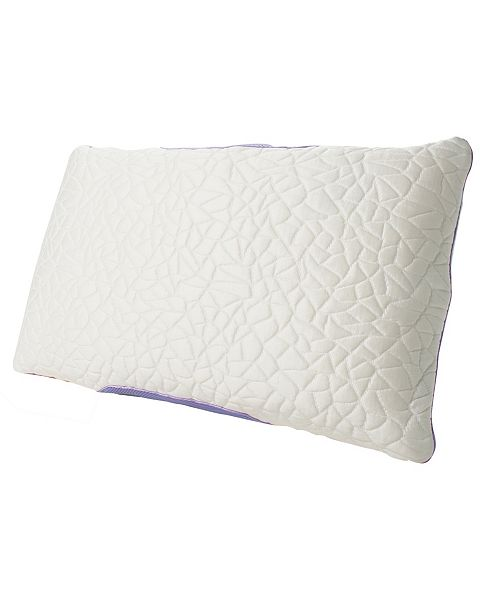 Protect-A-Bed Queen Therm-A-Sleep Snow Memory Foam Clusters Firm Pillow ft. Nordic Chill Fiber and Tencel