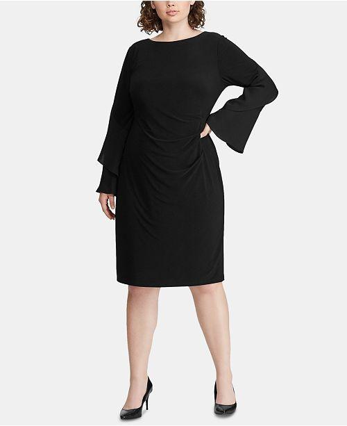 Lauren Ralph Lauren Plus Size Ruffle-Sleeve Dress