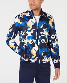 Club Room Men's Performance Stretch Moisture-Wicking Camouflage Track Jacket, Created for Macy's