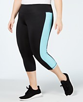eed760a527f0e Ideology Plus Size Colorblocked Cropped Leggings, Created for Macy's