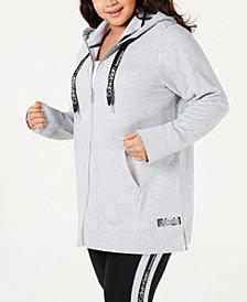 Calvin Klein Performance Plus Size Logo Zip Hoodie
