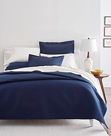 Diamond Quilted Coverlet and Sham Cotton Collection, Created for Macy's