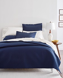 Charter Club Damask Diamond Quilted Coverlet and Sham Cotton Collection, Created for Macy's