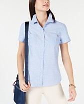 af1ec0a3673 Tommy Hilfiger Dot-Print Button-Down Shirt