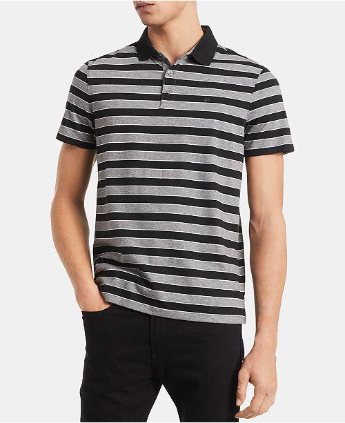 Calvin Klein Men's Liquid Touch Striped Polo Shirt