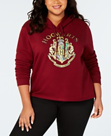 Modern Lux Trendy Plus Size Hogwarts Graphic-Print Hoodie