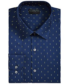 Alfani Men's AlfaTech Slim-Fit Performance Stretch Double Arrow Dress Shirt, Created for Macy's