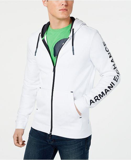 A|X Armani Exchange Men's Zip-Front Logo Hoodie