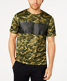 Men's Colorblocked Camo-Print T-Shirt, Created for Macy's