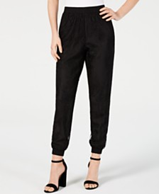 LEYDEN Somerset Lace Jogger Pants