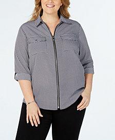 MICHAEL Michael Kors Plus Size Printed Utility Shirt