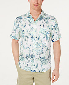 Tommy Bahama Men's Woven Palm-Print Hawaiian Shirt