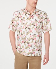 Tommy Bahama Men's Floral Pacific Paradise Hawaiian Shirt, Created for Macy's