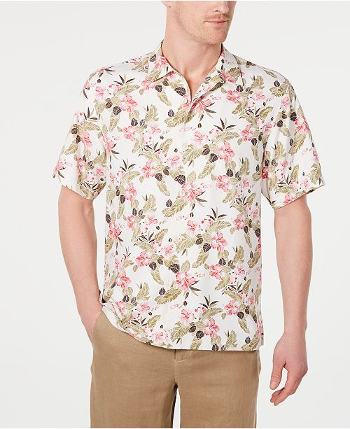 dc995a149e Tommy Bahama Men's Floral Pacific Paradise Hawaiian Shirt, Created for  Macy's