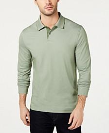Men's Supima® Blend Long-Sleeve Polo, Created for Macy's