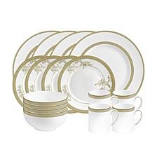 Dinnerware, Vera Lace Gold 16-PC Set