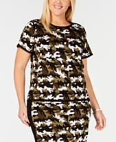 7243d0b337 MICHAEL Michael Kors Plus Size Camo-Print Sweater