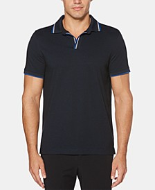 Men's Tipped Buttonless Polo