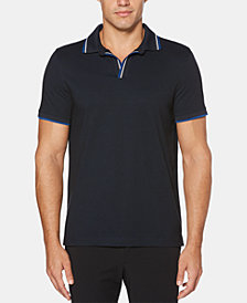 Perry Ellis Men's Tipped Buttonless Polo