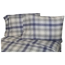 Flannel Plaid Sheet Set Twin
