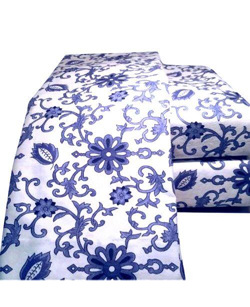 La Rochelle Paisley Flannel Sheet Set California King
