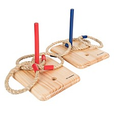 Triumph Wood Quoit Set with Rope Toss Rings